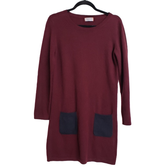 CHINTI AND PARKER Burgundy Cashmere Dress M